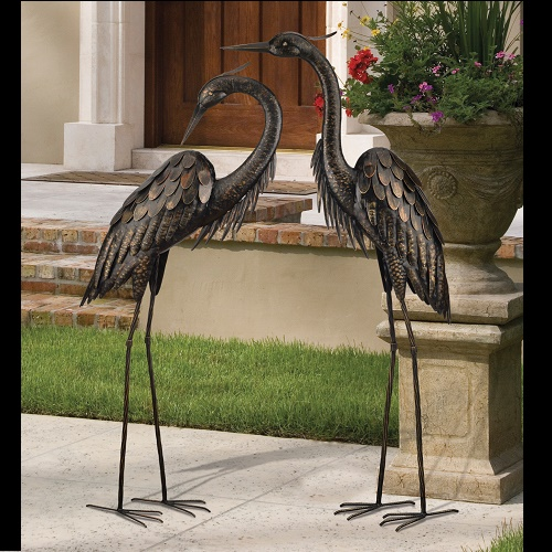 Classy Metal Bird Pair - Idea Gallery - Bird Sanctuary lovers decorations for sale or rent