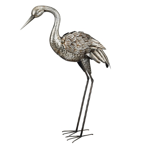 Crane Companion - Silver - Exclusive Ironworks - Chic Style metal birds for weddings