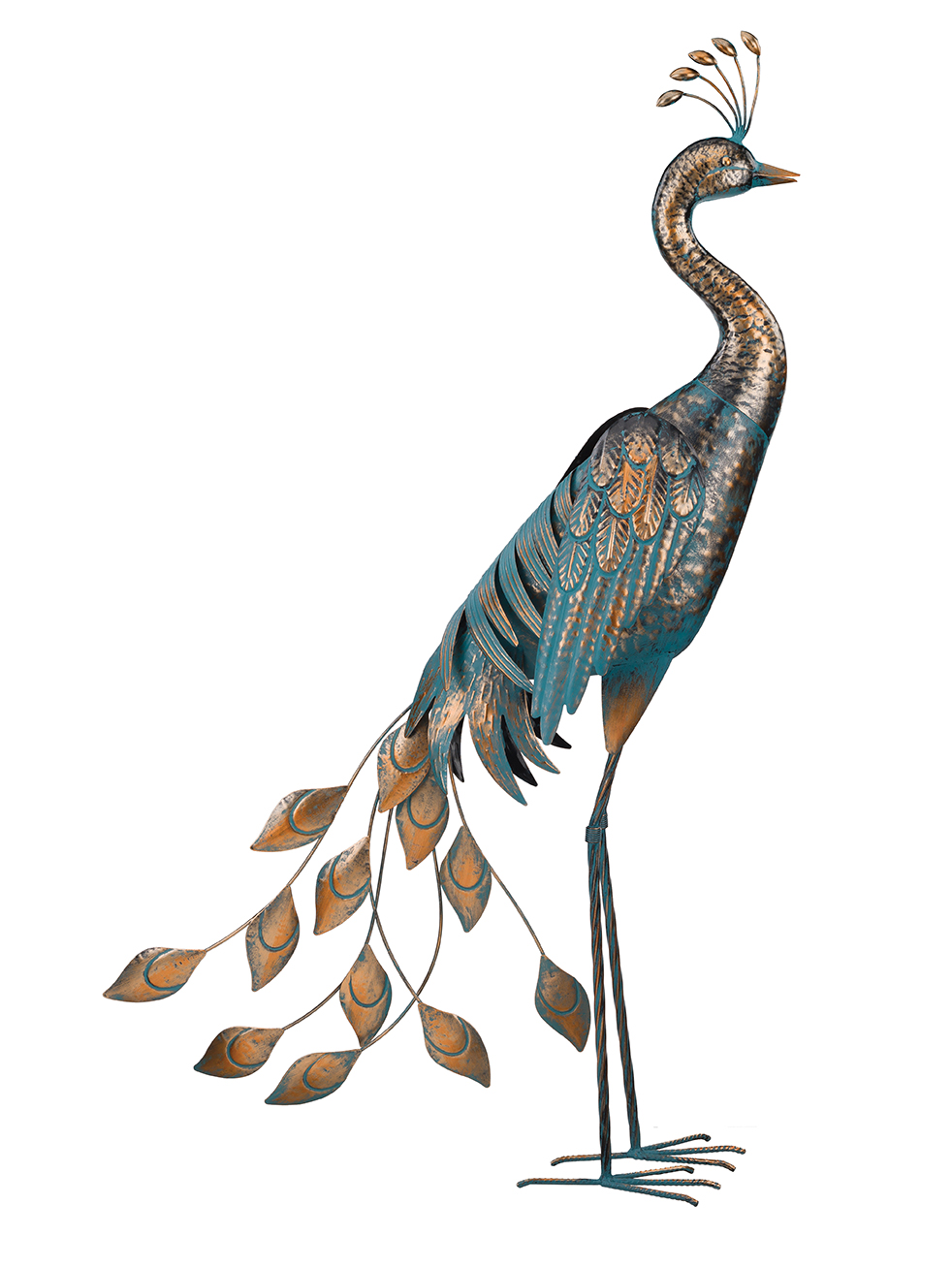 Peacock Companion - Exclusive Ironworks - Large Metal Peacocks for rent
