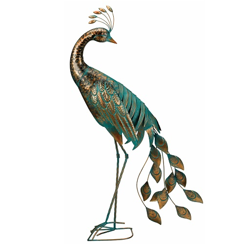 Peacock Preening - Exclusive Ironworks - Peacock Decoration Metal