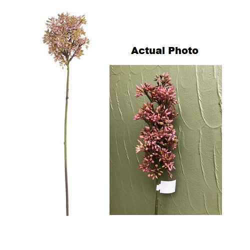 Budded Lilac Stem - Pink - Artificial floral - great looking berry type looking stem filler
