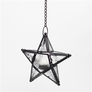 Hanging Star with tealight - Themed Rentals - Lighted Wedding star decor to hang from trees at night