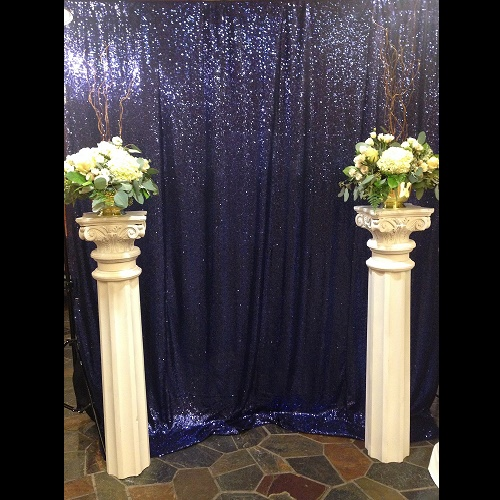 4ft Wooden, White Column - Centerpieces & Columns - White Wedding Columns for rent