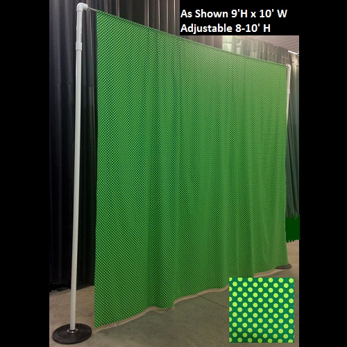 Polka Dot Backdrop - Themed Rentals - St. Patricks Day Fabric Photo backdrop for rent