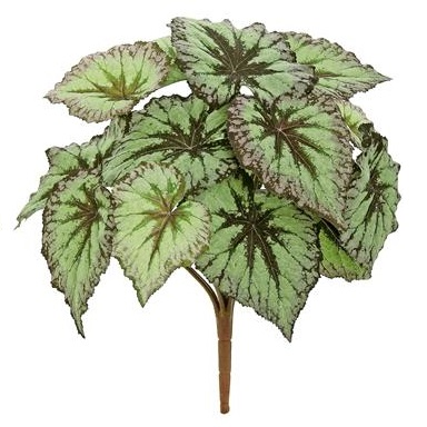 Unpotted Begonia Leaf Plant GR/PUR - Artificial floral - Begonia Leaf Filler artificial
