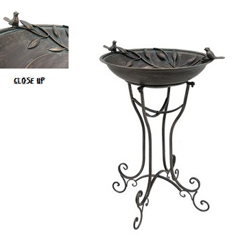 Metal Birdbath - Exclusive Ironworks - wedding bird bath for rent