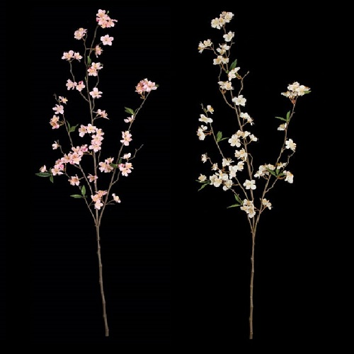 45 Inch Cherry Blossom Branch - Artificial Trees & Floor Plants - artificial cherry blossom branches white or pink