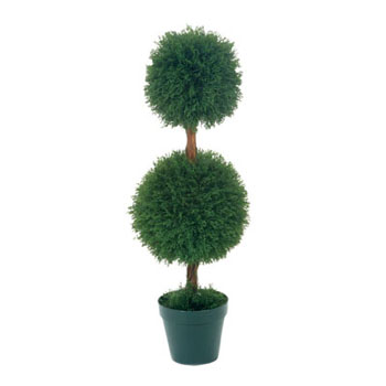 Cypress Pine Dbl Topiary 3' - Artificial Trees - small artificial topiary trees for rent