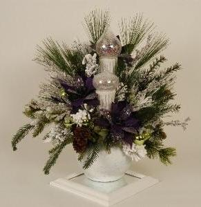 Christmas Centerpiece - Purple - Themed Rentals - Actual purple Christmas Centerpiece for lease