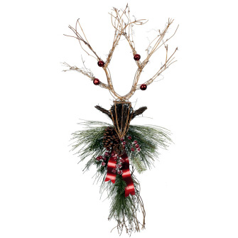 Deer & Pine Swag - Artificial floral - Cool Deer Swag for rent