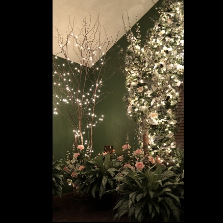 Green Floor Plant with Winter Birch & Northwoods Trio - Artificial floral - Beautiful wedding greenery ideas