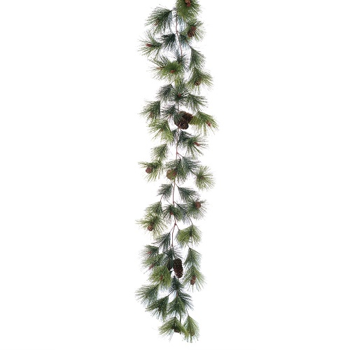 Northwoods Garland/Pinecones - Artificial floral - Business Christmas Party decoration rentals