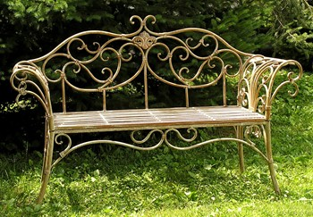 French Garden Bench - Exclusive Ironworks - Garden Bench for rent