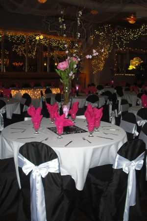 Black & Hot Pink Decor - Idea Gallery - Black & Hot Pink wedding decorating ideas