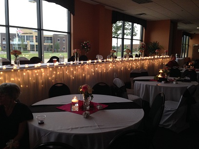 Head Table Lighting Only - Idea Gallery - Brown and White Wedding decor ideas