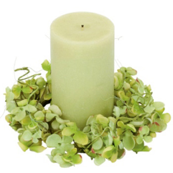 Hydrangea Ring - Centerpieces & Columns - Candle rings for wedding centerpieces