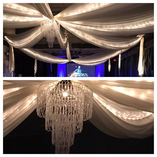 Polyester Voile Drapery Premade Ceiling - Events & Themes - Ceiling Draping for Weddings Fabric