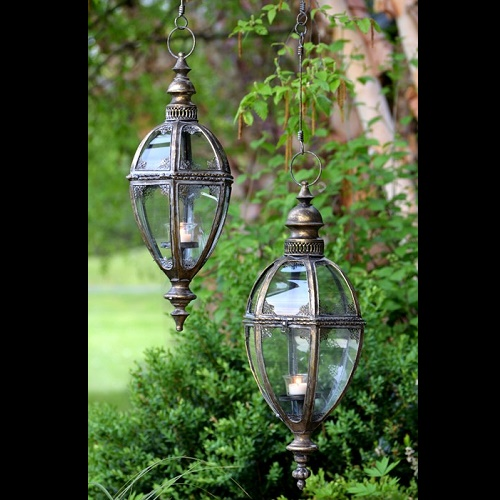 Set of 2 Large Hanging Lanterns - Exclusive Ironworks - Gorgeous large hanging lanterns for weddings