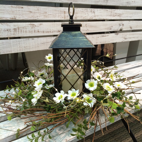 Daisy Herb Wreath Idea - Idea Gallery - Lantern Wedding ideas for tables