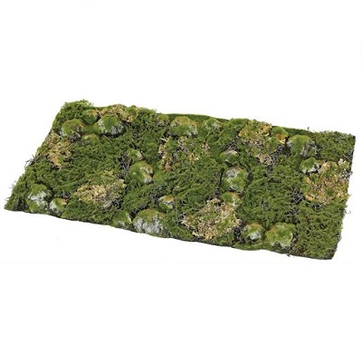 Moss and Rocks and Lichen Mat - Artificial floral - Moss and Rocks artificial mat