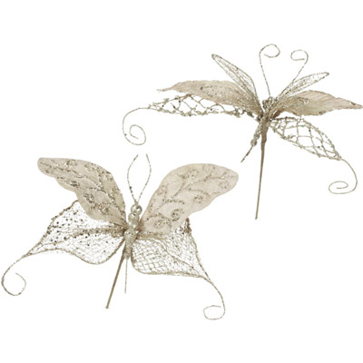 Butterfly & Dragonfly - Artificial floral - Butterfly and Dragonfly Christmas decoration