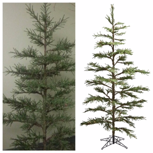 Pistol Pine 7' - Themed Rentals - 7 foot Charlie Brown Artificial Christmas Tree