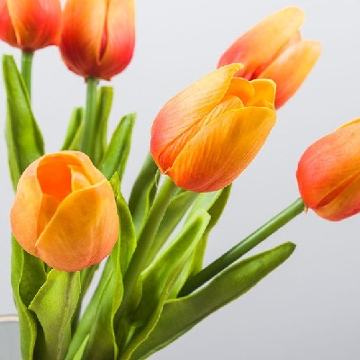 Tulip - Orange Real Touch - Artificial floral - Gorgeous real touch tulips for sale