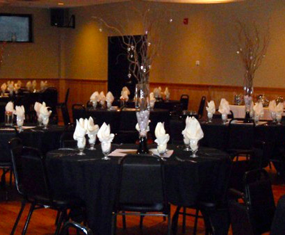 NO Chair Covers Black & White Wedding - Idea Gallery - Black & White Wedding Photo Idea