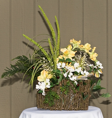 Northwoods Arrangement - Centerpieces & Columns - Country wedding shower arrangement