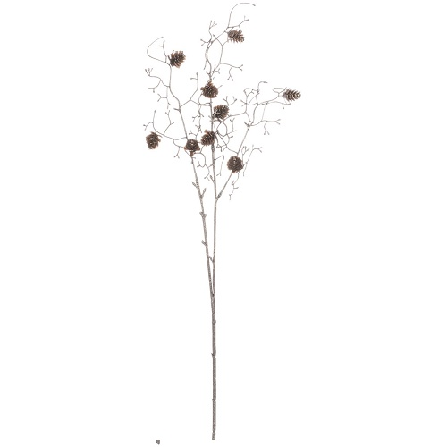 Pinecone-Twig Spray - Artificial floral - Champaign Twigs and pinecone spray artificial