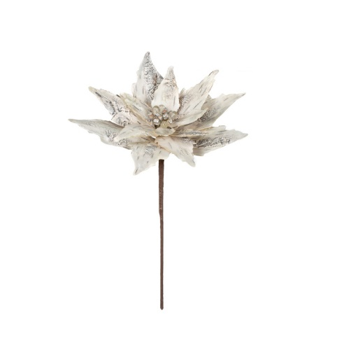 White Birch Poinsettia - Artificial floral - Birch Bark Poinsettia