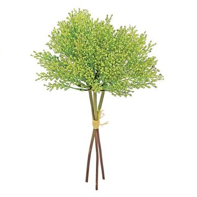 Seed Spray Bundle-Green - Artificial floral - Seeded artificial stem for sale in bulk