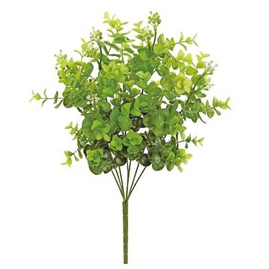 Seeding Eucalyptus Bush GR/GR - Artificial floral - seeding eucalyptus plastic bush stem
