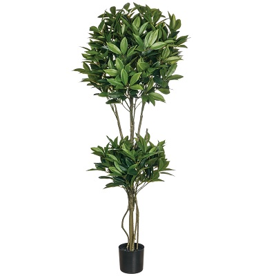 Shikiba Double Topiary 4' - Artificial Trees - contemporary topiary 4ft tree for rent