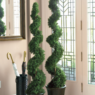 Spiral Cedar Topiary 5' - Artificial Trees - artificial spiral trees prom rentals