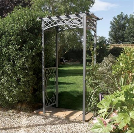 Steel Square Arbor - Exclusive Ironworks - Arbor Pergola for rent