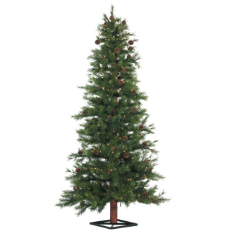 Mixed Pine Christmas Tree Prelit 9' - Artificial Trees - prelit Christmas trees 9 feet