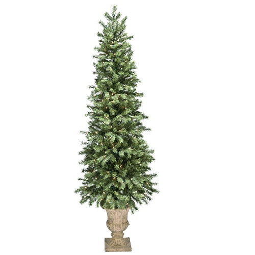 Balsam Pine Potted 6' - Artificial Trees - artificial potted prelit Christmas trees