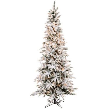 Flocked Slim Pencil 7' 5 - Artificial Trees - Flocked commerciall trees