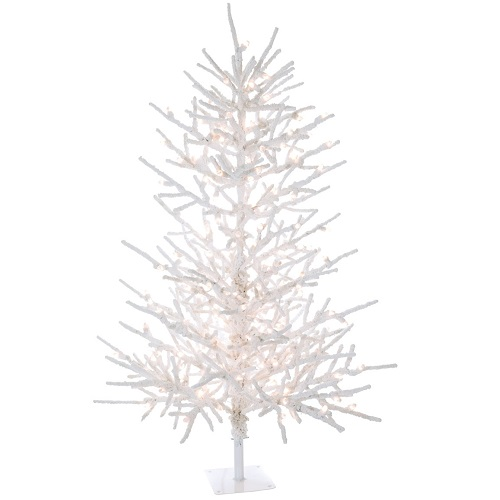 Flocked Twig Tree 5' and 7' - Artificial Trees & Floor Plants - White Charlie Brown Tree