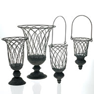 Terrace/Pew Hangers & Vases - Centerpieces & Columns - elegant wedding pew decoration ideas