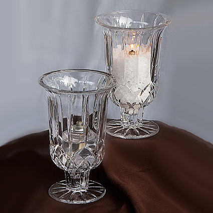 Tuscany Hurricane Vase - Centerpieces & Columns - cheap Crystal Hurricane Centerpieces for rent