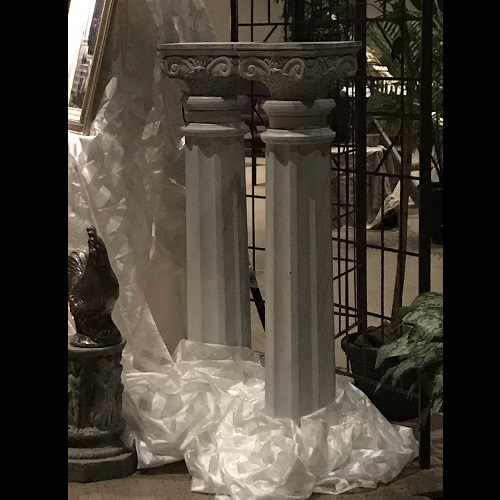 Twin Columns - Centerpieces & Columns - White Wedding Columns for rent