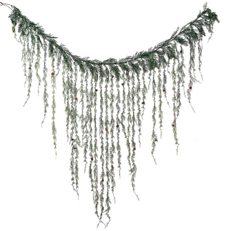 Weeping Christmas Cedar Garland - Artificial floral - Hanging Christmas garland