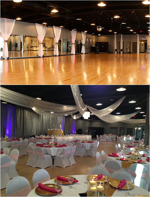 Midpointe Event Center Room Transformation - Idea Gallery - Before and After Photos Wedding and Event Decorations