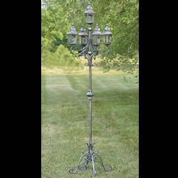 French Lantern - Frosted Silver or Gold - Exclusive Ironworks - Tall Standing Lantern Prom Rental