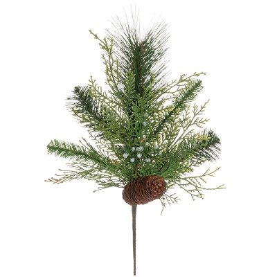 Mixed Pine Spray - Artificial floral - Holiday greenery picks for centerpieces