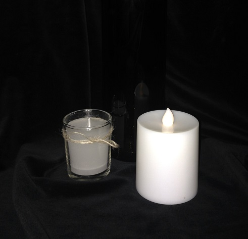 Battery Operated Candles - Centerpieces & Columns - flickering battery operated candles for rent