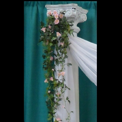 Morning Glory Pink - Artificial floral - artificial hanging flowers pink