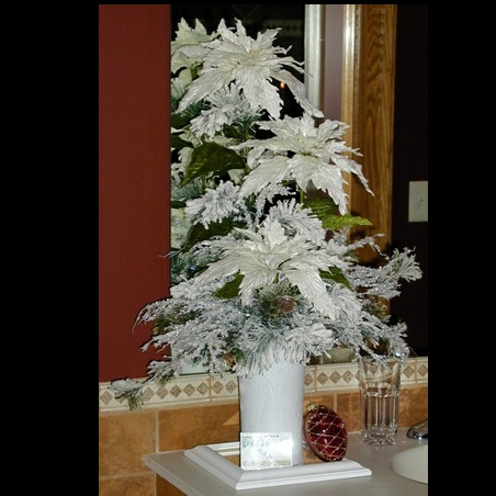 Christmas Centerpiece - White - Centerpieces & Columns - Artificial Christmas Wedding Centerpiece for lease or rent